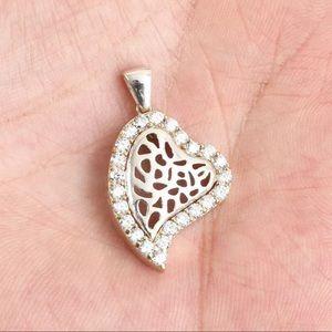 Sultan Modern Heart Shape Sterling Silver Pendant